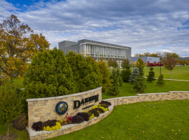 Daemen Front Sign in Fall
