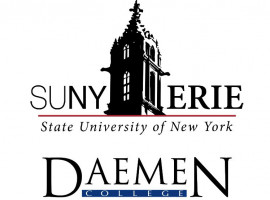 SUNY Erie and Daemen college logos